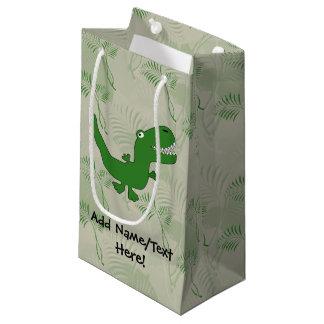 T-Rex Tyrannosaurus Rex Dinosaur Cartoon Kids Boys Small Gift Bag