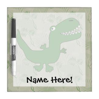 T-Rex Tyrannosaurus Rex Dinosaur Cartoon Kids Boys Dry Erase Whiteboards