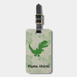 T-Rex Tyrannosaurus Rex Dinosaur Cartoon Kids Boys Travel Bag Tag