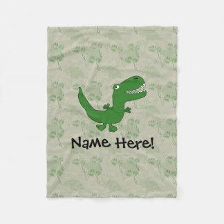 T-Rex Tyrannosaurus Rex Dinosaur Cartoon Kids Boys Fleece Blanket