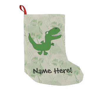 T-Rex Tyrannosaurus Rex Dinosaur Cartoon Kids Boys Small Christmas Stocking