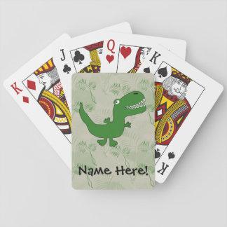 T-Rex Tyrannosaurus Rex Dinosaur Cartoon Kids Boys Deck Of Cards