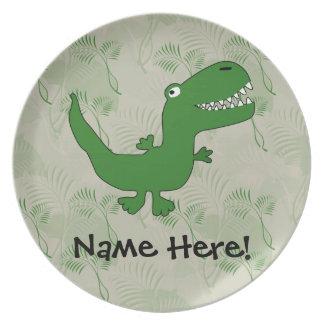 T-Rex Tyrannosaurus Rex Dinosaur Cartoon Kids Boys Party Plates