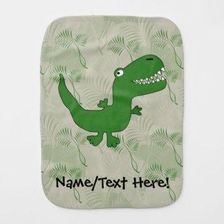 T-Rex Tyrannosaurus Rex Dinosaur Cartoon Kids Boys Burp Cloth