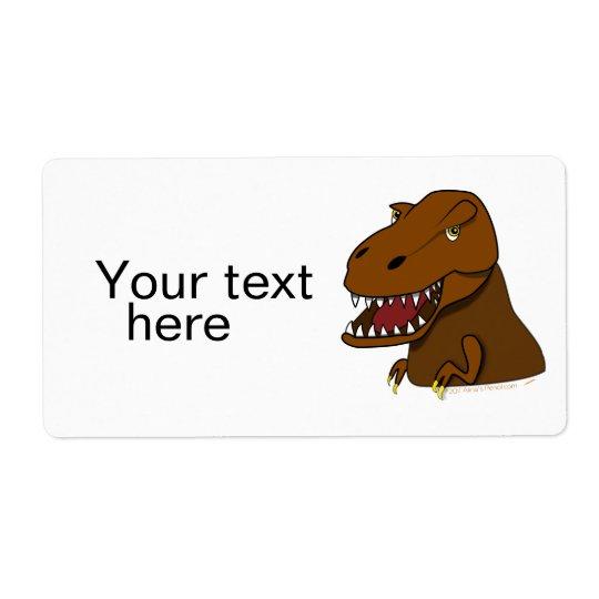T-Rex Tyrannosaurus Rex Scary Cartoon Dinosaur