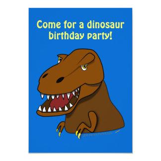 "T-Rex Tyrannosaurus Rex Scary Cartoon Dinosaur 5"" X 7"" Invitation Card"