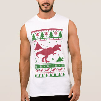 T-Rex Ugly Christmas Sleeveless Shirt