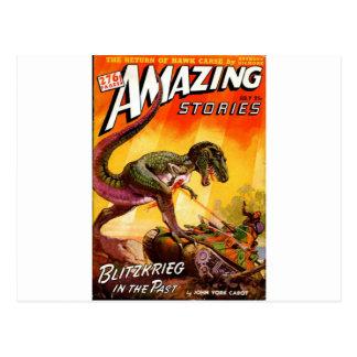 T-Rex vs. Sherman Tank Postcard