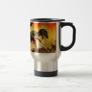T-Rex vs. Sherman Tank Travel Mug