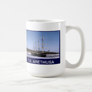 T.S. Arethusa on the frozen River Medway Mugs
