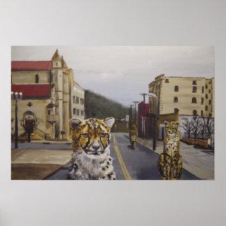 T.S.W.S.Y.E. - Cheetah City Pop Surrealism Print