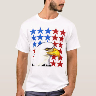 T-shirt - American Bald Eagle Stars