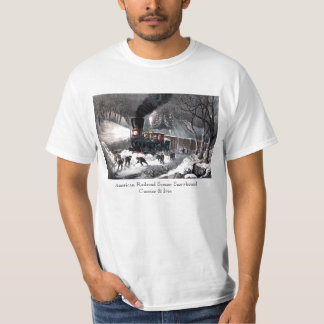 T Shirt: American Railroad Scene: Snowbound T-Shirt