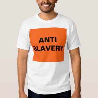 T-Shirt Anti Slavery Orange