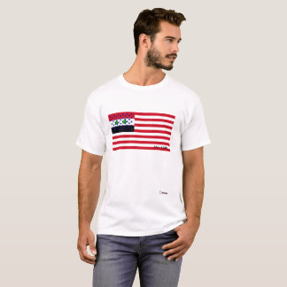 T-shirt Basic with USA and Syria Flags
