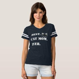 T-Shirt Best Cat Mom Ever White Family Love Cat