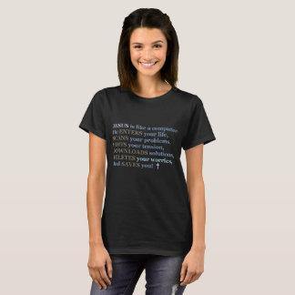 T Shirt, Black, Women's Clothing, Jesus, Computer T-Shirt