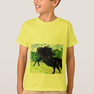 T-Shirt Boy's  Black Stallion