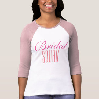 T-shirt Bridal squad long sleeves. (pink)