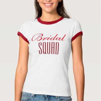 T-shirt Bridal squad. (red)