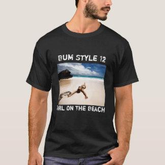 T-shirt Bum Style Girl On The Beach