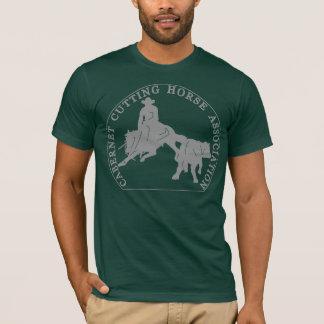 T-Shirt Cabernet CHA American Vert Logo Gris