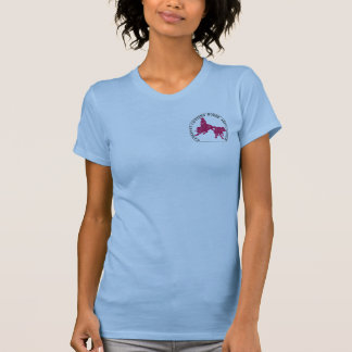"T-Shirt Cabernet CHA Bleu Ciel ""Petite"" Rose"