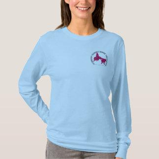 T-Shirt Cabernet CHA Femme Bleu Ciel Long Rose