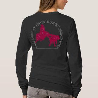 T-Shirt Cabernet CHA Femme Noir Long Rose