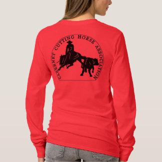 T-Shirt Cabernet CHA Femme Rouge Long Noir