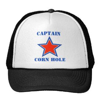 T shirt captain corn hole cap