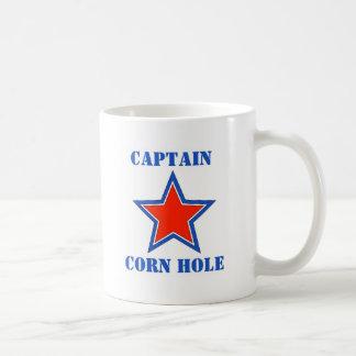 T shirt captain corn hole coffee mugs