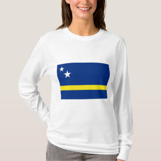 T-shirt Curaçaose flag with long sleeves