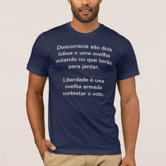 T-shirt Democracy, wolves and sheep