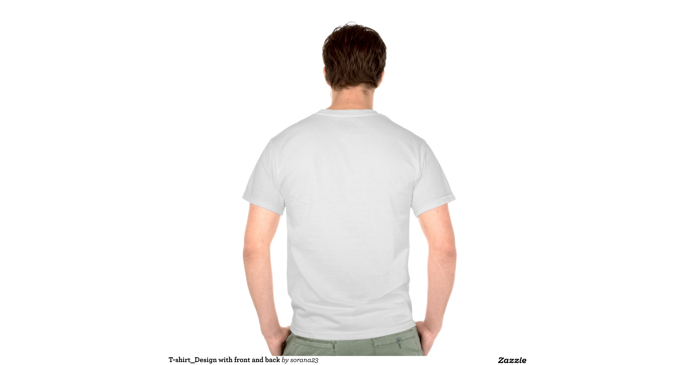 T Shirt Design With Front And Back Shirts Zazzle