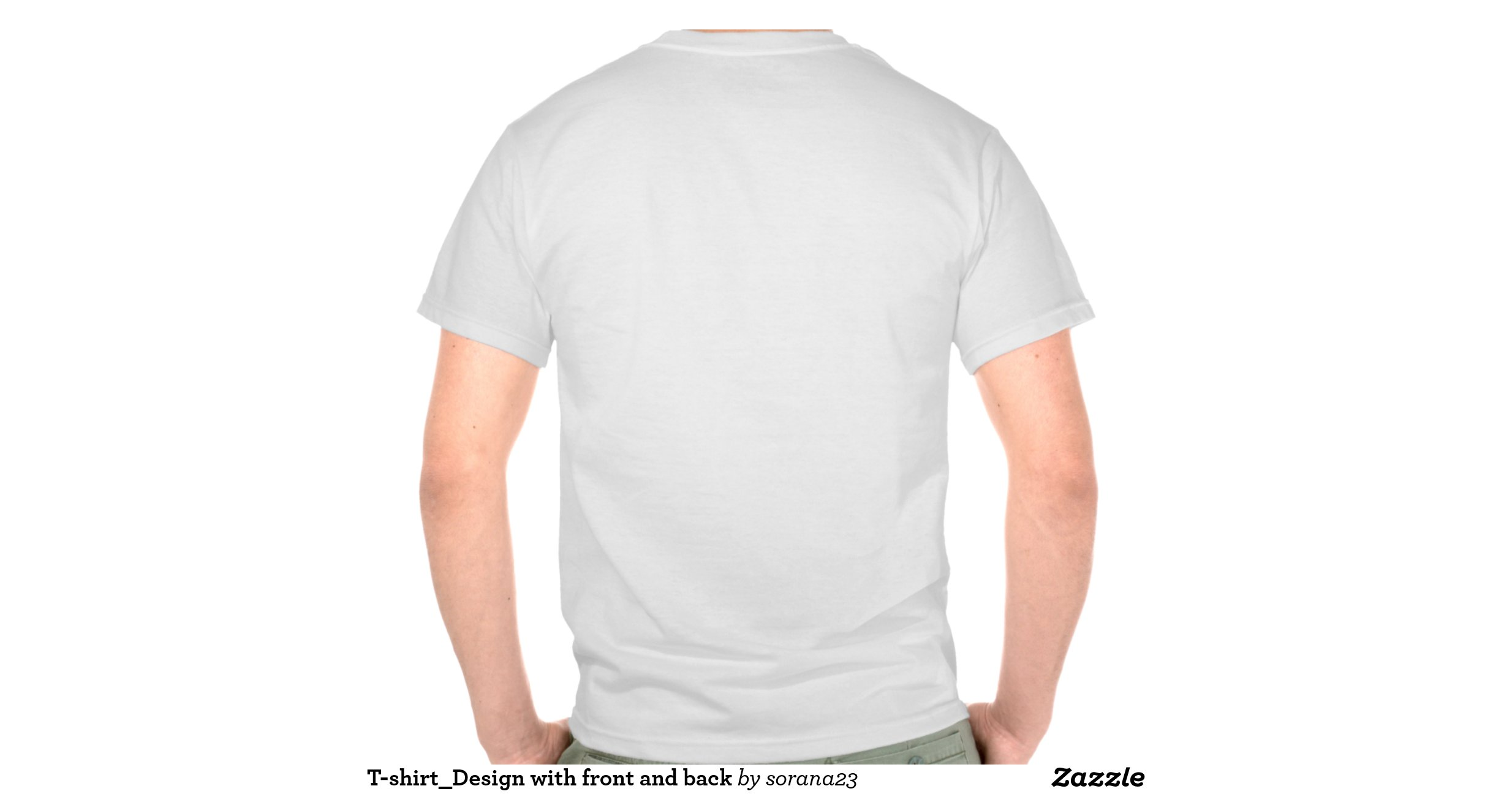 T shirt design with front and back shirts zazzle Design t shirt australia