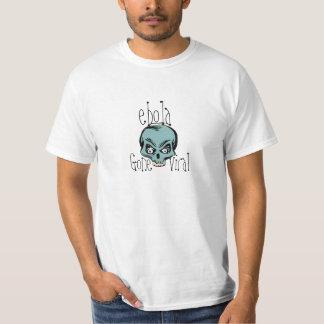 T-Shirt ebola Teal Skull Scary Viral Disease Virus