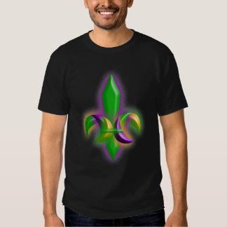 T-shirt Fleur De Lis Party Glow Mardi Gras Colors