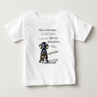 T-shirt for baby with print of dog and sentence