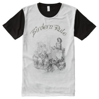 T-Shirt for Birders - The Parrot Judge All-Over Print T-Shirt