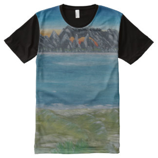 #T-shirt for Downhill Skatern with mountain All-Over Print T-Shirt