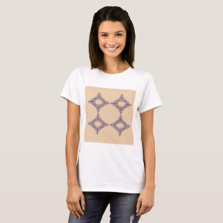 T-shirt for girl, brown blue Ornaments