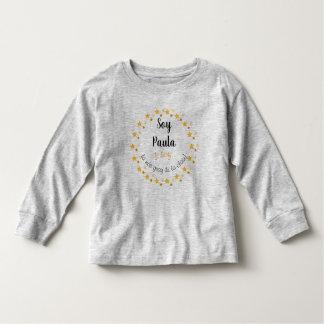T-shirt gray long sleeve for young Paula name