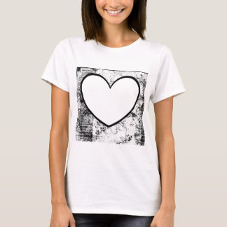 T-Shirt, Heart Shape Photo Insert T-Shirt
