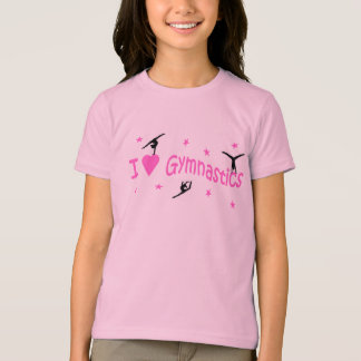 "T. Shirt ""I love gymnastics"" motif"