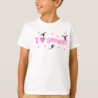 T.shirt - I Love Gymnastics motif T-Shirt