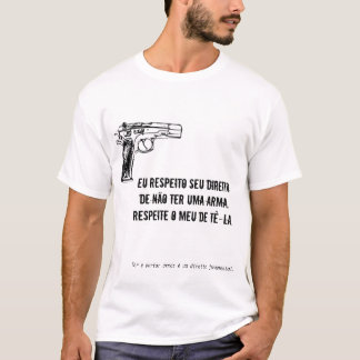 "T-shirt ""I respect its right """