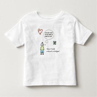 T-shirt Je ne parle peut-être pas fonds blanc