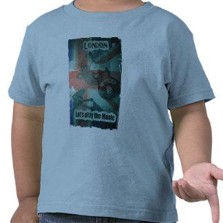 T Shirt jeune enfant London Let s play the music T-shirt