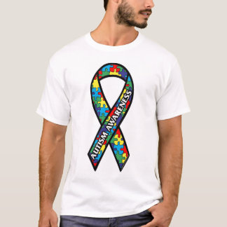 T-shirt - Large Autism Awareness Ribbon